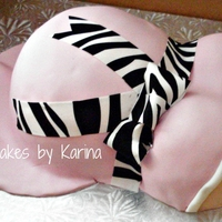 Pregnant Belly Dominican Cake filled with Dulce de leche this was a congratulations on pregnancy