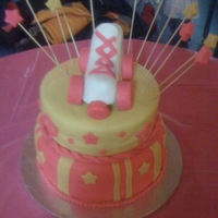 Roller Skate Birthday Cake 12in strawberry,10in red velvet, RKT skate