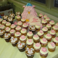 Baby Owl Pink Baby Owl with Sleeping Cap (Buttery Vanilla Pound Cake with Classic Vanilla Buttercream), Strawberry Banana Split Cupcakes with...