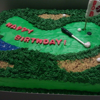 Birthday Cake For A Golfer Cherry Chocolate Cake with Buttercream and Fondant decorations