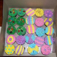 Easter Cupcakes From 2009   Just vanilla and chocolate cupcakes decorated in buttercream and sprinkles and some jelly beans!