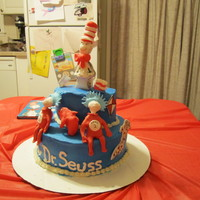 Cat In The Hat Cake This is my first cake and it was done for our little Seuss celebration that my kids and I had on March 2nd.