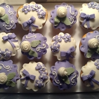 Lavender And White Cupcakes