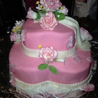 Hearts And Roses Cake