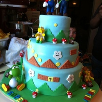 Mario's Bros MY FIRST MARIO CAKE!