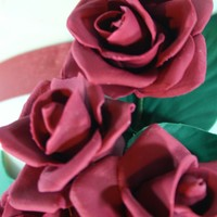 Red Roses Wedding Cake   Gum paste red roses, for me is the more romantic flower!!