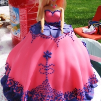 Barbie Princess Birthday Cake Barbie Princess Birthday cake Fondant