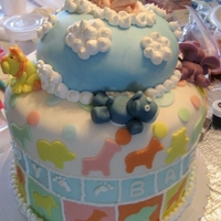 Baby Boy Baby Shower Cake With Animals   Baby Boy Baby Shower Cake with animals