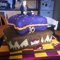 Hermione Cake I was given this order by a local cake decorator who was poorly and couldn't do the cake, I was so glad. She had the idea of a book...