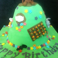 Rabbit Hill I think I ended up making this cake a bit too tall and thin... if I did it again I'd probably go a bit smaller!