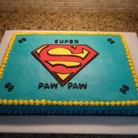Superman Pawpaw  A really fun cake to surprise an 88 year old grandpa. Everyone loved the cake and he was really happy about the idea of being compared to...