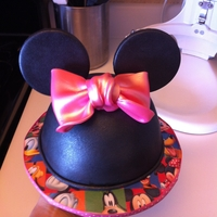 Minnie Mouse Ears  This was one of the most relaxing requests to get together. A friend of mine asked for 3 dozen cupcakes and a small cake for her 2yr old,...