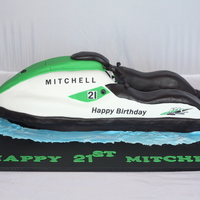 3D Carved Mudcake Ganache Jetski 2 Foot Long All Edible Except For 2 Toothpicks In The Handle Mechanism 3D carved mudcake + ganache jetski2 foot longAll edible - except for 2 toothpicks in the handle mechanism