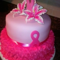 Breast Cancer Fundraising Cake