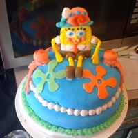 1St Spongebob Cake I made this cake for my son's 3rd Birthday, I didn't really like how it turned out. I just used box cake mix and store bought...