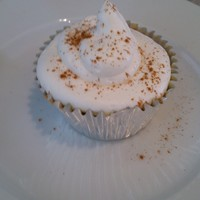 Tres Leches Cupcake Tres leches cupcake with vanilla whipped cream