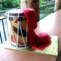 Ceremonial Drum Cake. Hand Painted...For the Third Marine Aircraft Wing Band's USMC Birthday Ball, 2011 .. HOO-AH!