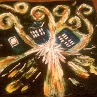 Dr, Who's Pandorica My daughter is a big Dr. Who Fan, I made this birthday cake to look like a painting Van Gogh did in an episode. Its all buttercream,...
