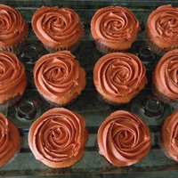 Cupcake Rosette I made these for our family reunion. Strawberry with cream cheese icing