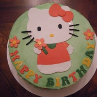 Hello Kitty Birthday   I made this for my good friend's daughter