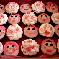 Kid Cakes I made this for a baby shower for a little girl.They were so fun to make.