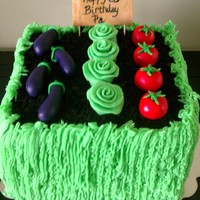 Vegetable Garden First time making fondant veggies!