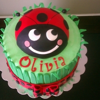 Sweet Little Ladybug A ladybug cake that I made for my niece's 7th birthday.
