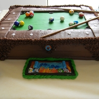 Jake And Amandas Grooms Cake A billiard cake for my nephew Jake when he married his bride Amanda. I asked my Jake, what flavor will you take and he replied CHOCOLATE I...