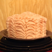 Mawmaw Lanas Pink Ruffle Cake This was my first attempt at the ruffle cake. I made a pink one for my breast cancer surviving, 67 year old, three times a week kickboxing...