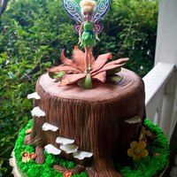 Tinkerbell On A Tree Stump Chocolate Cake With Vanilla Buttercream Covered In Mmf Gum Paste Flowers And Mushrooms Tink Is A Toy The Bday  Tinkerbell on a tree stump Chocolate cake with vanilla buttercream covered in mmf. Gum paste flowers and mushrooms. Tink is a toy the bday...