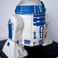 R2D2 Cake Carrot Cake With Cream Cheese Frosting Covered In Mmf R2D2 cake. carrot cake with cream cheese frosting covered in mmf