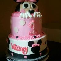 Peeking Minnie Mouse A customer showed me a few different cakes she liked different things about. This was my result :)