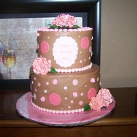 Paris's Birthday Chocolate buttercream, fondant accents, gum paste topper and roses