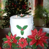 Textured Candle Thank you to everyone who made this exact candle for the inspiration. I was looking for a cake to display my gum paste poinsettias and this...