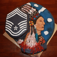 Indian Chief Retirement This was a retirement cake for an Air Force Chief Msgt.