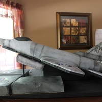 F-16 Retirement Cake F-16 Retirement cake for a retiring Air Force Msgt.