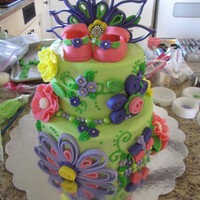 Alayna's Baby Shower My daughter loves paper quilling so I tried it with fondant. My niece loved the result. For my sweet great-niece Alayna
