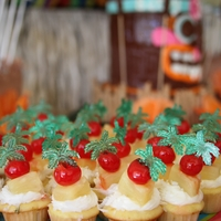 Pina Colada Mini Cupcakes Pineapple cupcakes with coconut cream cheese frosting....served at my daughter's Luau