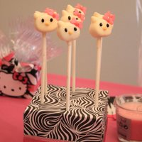 Hello Kitty Marshmallow Pops I made these kitty pops out of marshmallows cut in half and dipped in candy melts.....