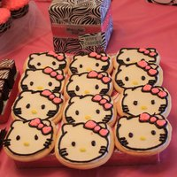 Hello Kitty Cookies Part of a dessert bar that was pink and zebra Hello Kitty themed for my daughter's 2nd birthday....