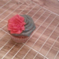 Cupcake With A Swirl And Buttercream Rose   buttercream rose