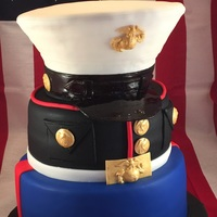 Marine Uniform Cake Marine uniform cake