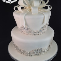 Bling Bridal Shower Cake Bling bridal shower cake.