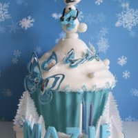 Frozen Giant Cupcake Everything is edible and all hand made
