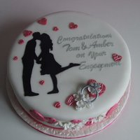 Engagement Cake Victoria sandwich, strawberry jam and vanilla cream. Hasty engagement cake, only had 3 days to complete