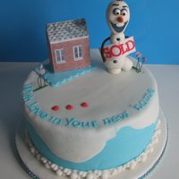 New Home Cake New home cake with a Frozen theme, all hand made and all edible