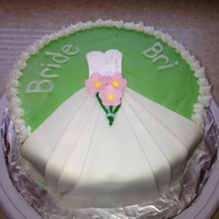 Bridal Shower Dress Cake Bridal shower dress cake
