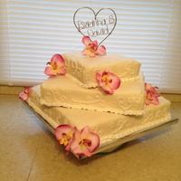 Orchid Square Wedding Cake Orchid square wedding cake