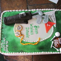 Retirement Cake For An Avid Golfer Retirement cake for an avid golfer