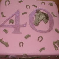 40Th Horse Cake 40th cake made for a lady who likes horse's